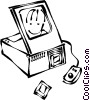 computer scanners Vector Clipart illustration