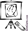 Vector Clip Art graphic  of a screen