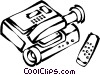video camera and remote controls Vector Clip Art image