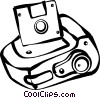 Vector Clip Art image  of a digital camera