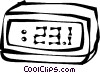 Vector Clipart picture  of a digital clocks