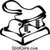 Vector Clip Art image  of a hole puncher