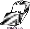 Vector Clipart graphic  of a index card catalog