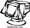 Vector Clip Art image  of a computer monitors