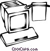computer monitors Vector Clipart image