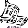 Vector Clip Art image  of a newspapers