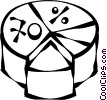 Vector Clip Art graphic  of a pie charts