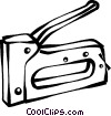 staple guns Vector Clipart illustration
