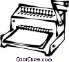Vector Clip Art image  of a book binder