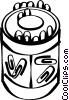 Vector Clip Art graphic  of a paperclip holder
