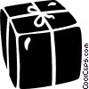 Vector Clipart graphic  of a birthday gifts