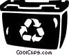 Vector Clipart graphic  of a recycle bin