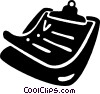 Vector Clip Art image  of a clipboards
