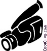 Vector Clip Art picture  of a camcorder