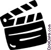 Vector Clipart illustration  of a clapboard
