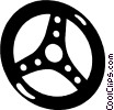 steering wheels Vector Clip Art picture