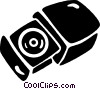 Vector Clipart illustration  of a CD rom players