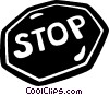 Vector Clip Art picture  of a stop sign