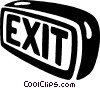 exit signs Vector Clip Art graphic