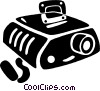 Vector Clipart image  of a slide projector