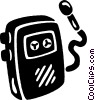 Vector Clipart graphic  of a tape recorder