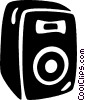 speaker Vector Clipart illustration