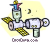 Vector Clip Art image  of a space station