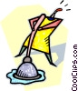 Vector Clipart illustration  of a toilet plunger