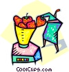 strawberries in a blender Vector Clipart illustration