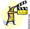 Vector Clipart graphic  of a clapboard