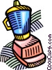 Vector Clip Art image  of a electric blenders