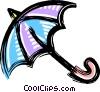 Vector Clip Art image  of a umbrella