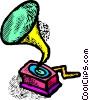 Vector Clipart graphic  of a phonograph