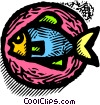 Vector Clipart image  of a fish
