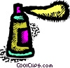 Vector Clip Art graphic  of an aerosol can