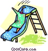 Vector Clipart graphic  of a person on a slide