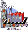 Vector Clip Art graphic  of a factories