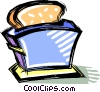 Vector Clipart graphic  of a toaster