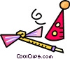 Vector Clipart illustration  of a party favors