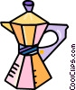 Vector Clip Art picture  of a coffee percolator