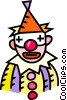 Vector Clipart illustration  of a Clown with funny glasses