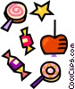 Vector Clipart graphic  of a candies