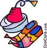 hats, shoes Vector Clip Art image