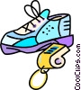 running shoes and sports whistles Vector Clipart picture