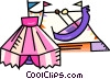 Vector Clip Art picture  of a circus tent