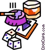 Vector Clipart graphic  of an ashtray