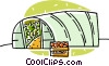 green house Vector Clipart image