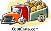 delivery truck Vector Clipart illustration