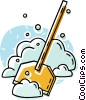 snow shovel Vector Clipart illustration