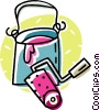 paint can and roller Vector Clip Art picture